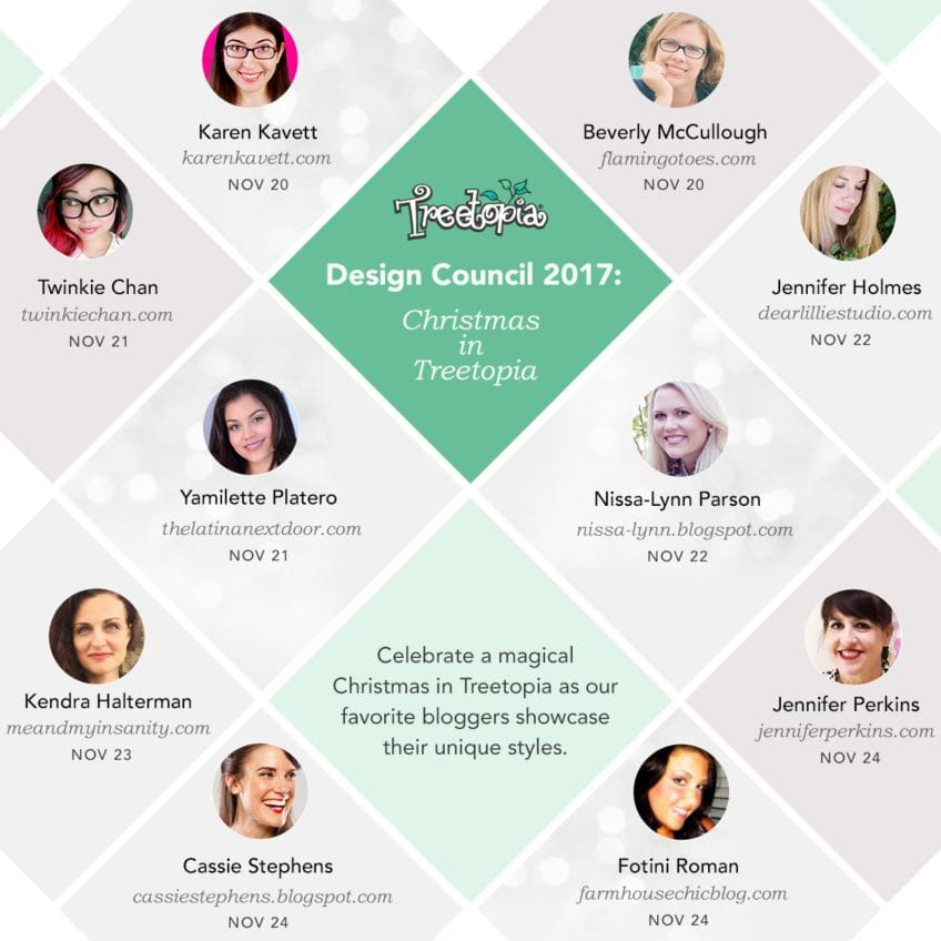 Treetopia Design Council of Christmas bloggers