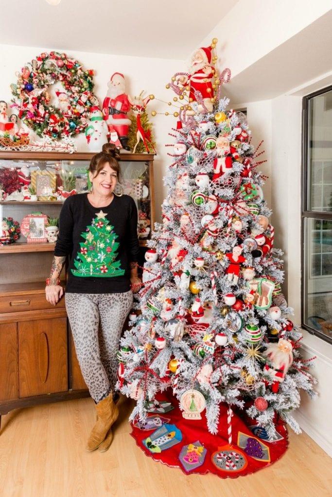 Flocked Christmas Tree by Jennifer Perkins