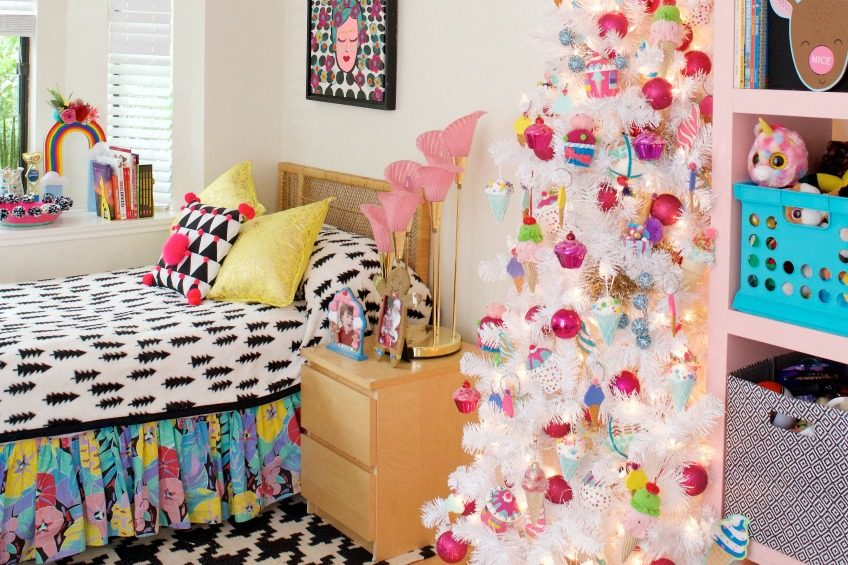 Christmas tree for a tween with a sweet treats theme by Jennifer Perkins