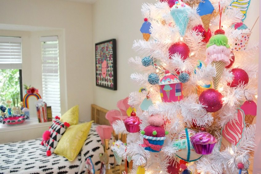 Decorating small spaces like bedrooms for Christmas by Jennifer Perkins