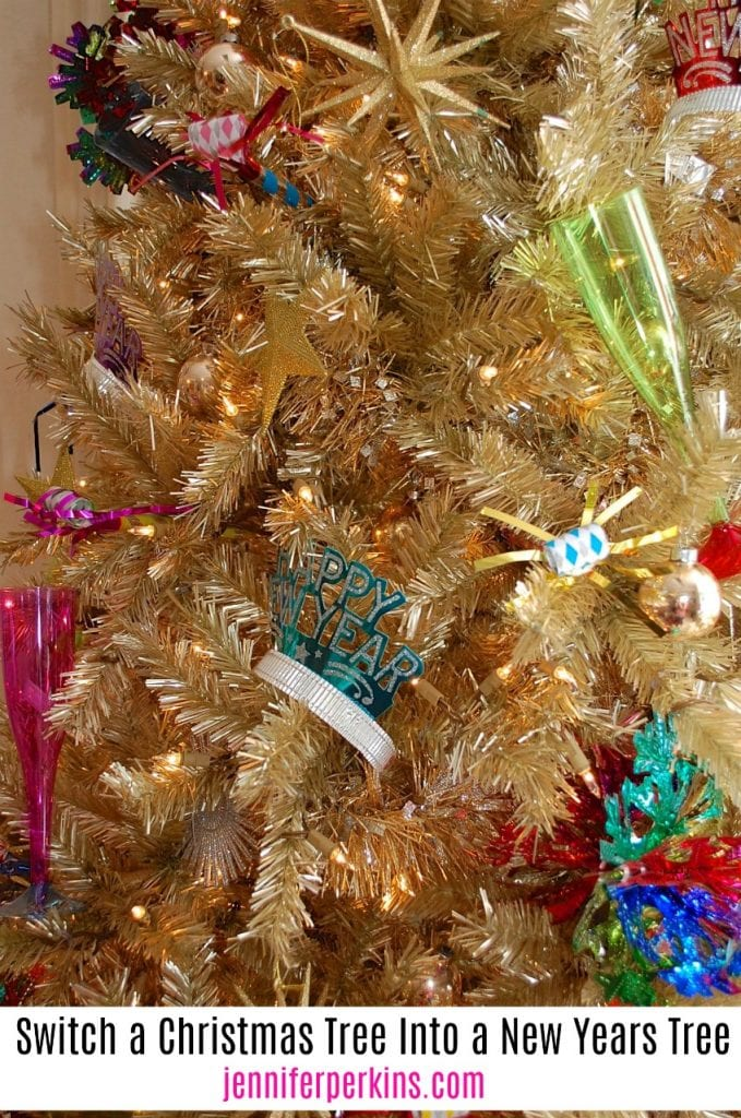 Turning a Christmas tree into a New Years Eve tree - Jennifer Perkins