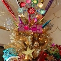 Topper for a New Years Eve tree by Jennifer Perkins