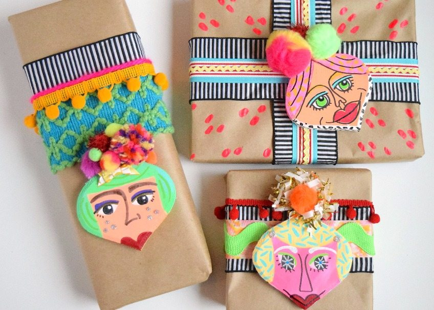 Hand painted wrapping paper by Jennifer Perkins