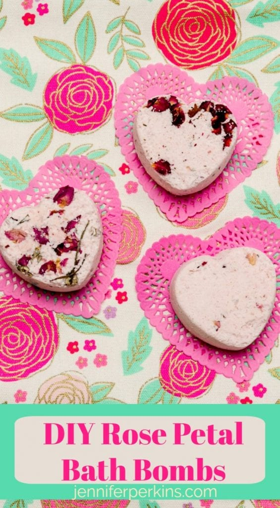 Easy rose petal bath bombs for Valentine's Day and beyond by Jennifer Perkins