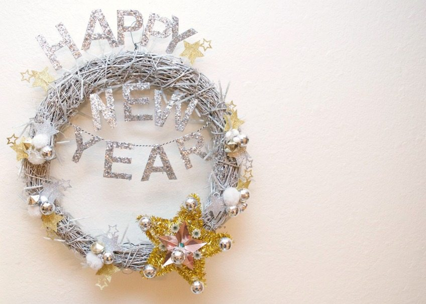 New Year's Eve Wreath by Jennifer Perkins