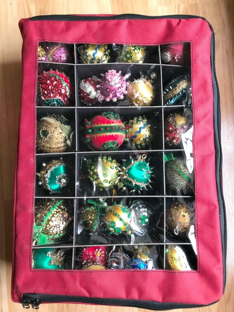 Ornament bags for Christmas storage by Jennifer Perkins