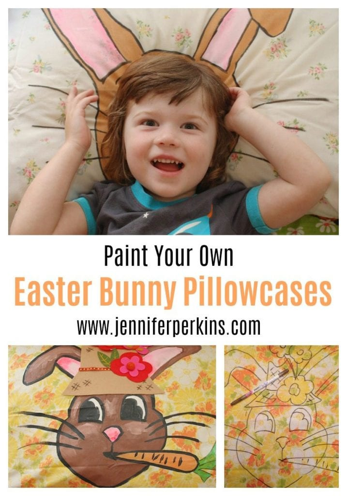 Make your own DIY Easter bunny pillowcases - Jennifer Perkins
