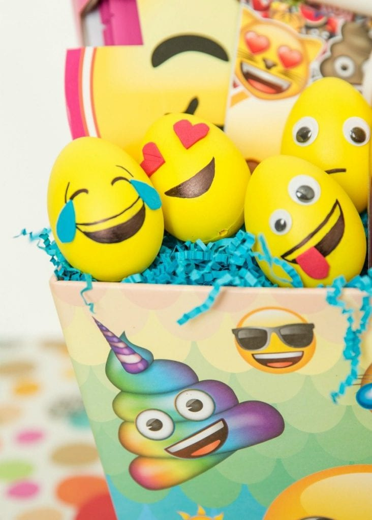 DIY Emoji Easter eggs by Jennifer Perkins