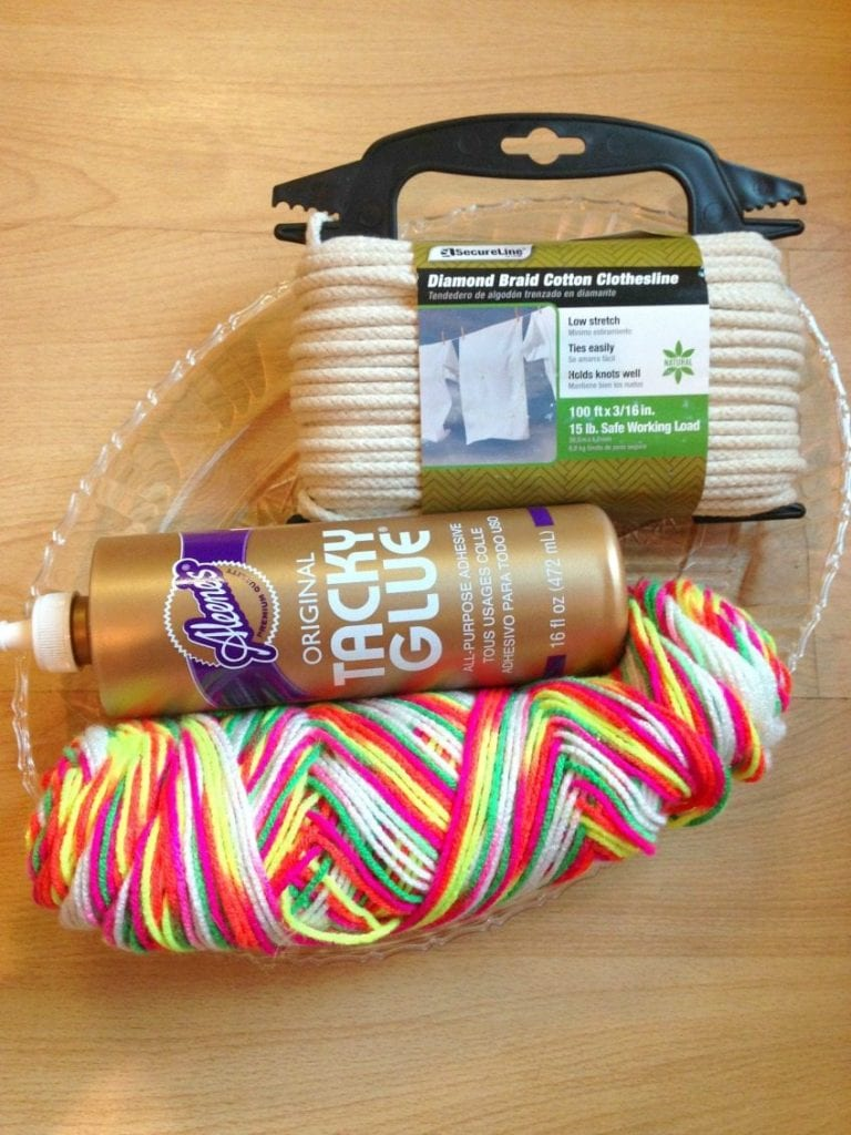 Easy DIY Way to Make Trendy Neon Coiled Rope Baskets