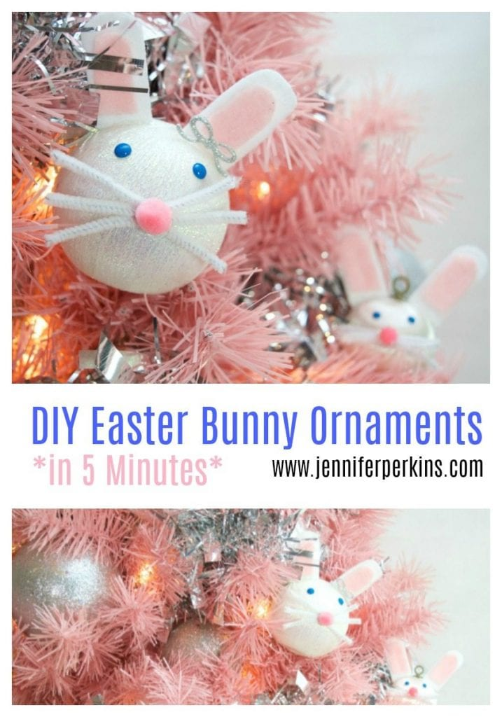 How to make DIY Easter Rabbit ornaments for an Easter tree by Jennifer Perkins