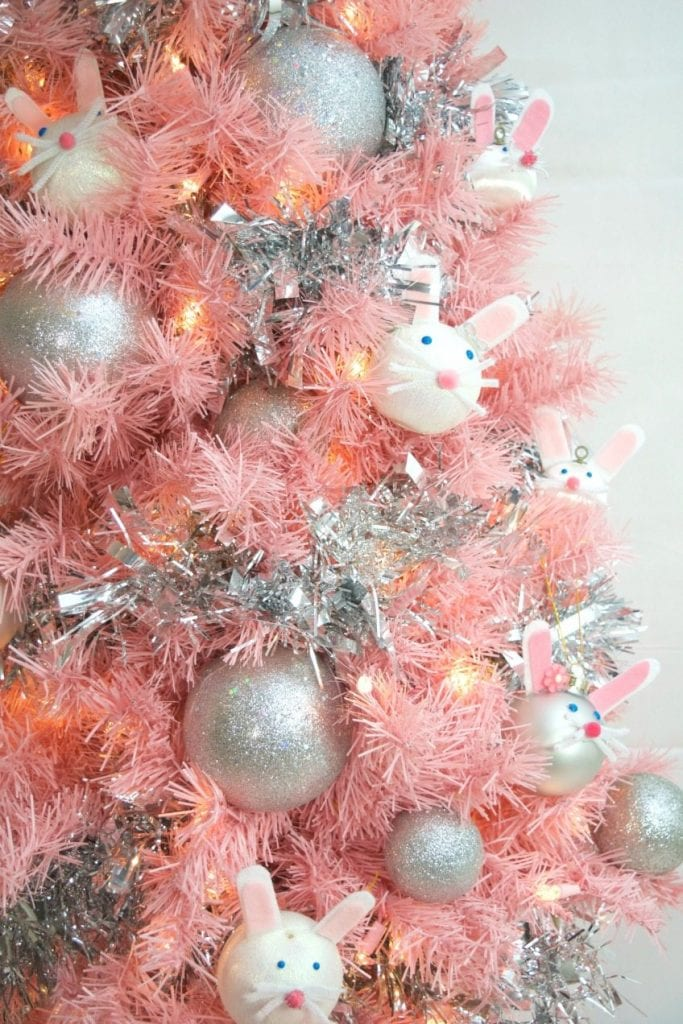 Easter tree with DIY bunny ornaments by Jennifer Perkins