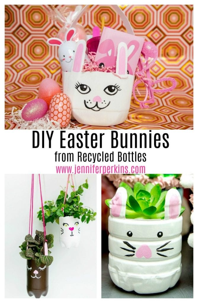 3 Different ideas for recycling plastic bottles into Easter bunnies. Jennifer Perkins