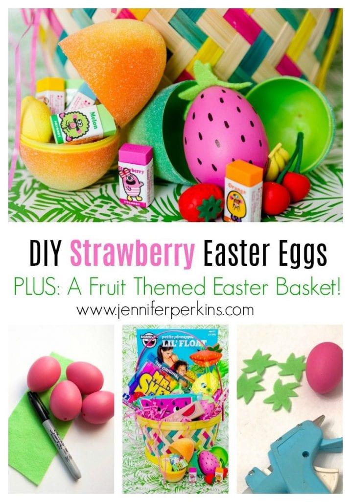 How to make plastic Easter eggs look like strawberries by Jennifer Perkins