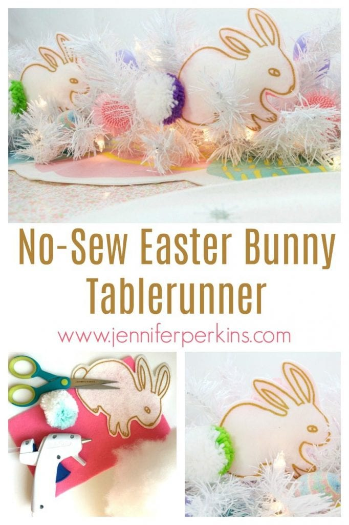 No-Sew Easter Bunny Table Runner by Jennifer Perkins