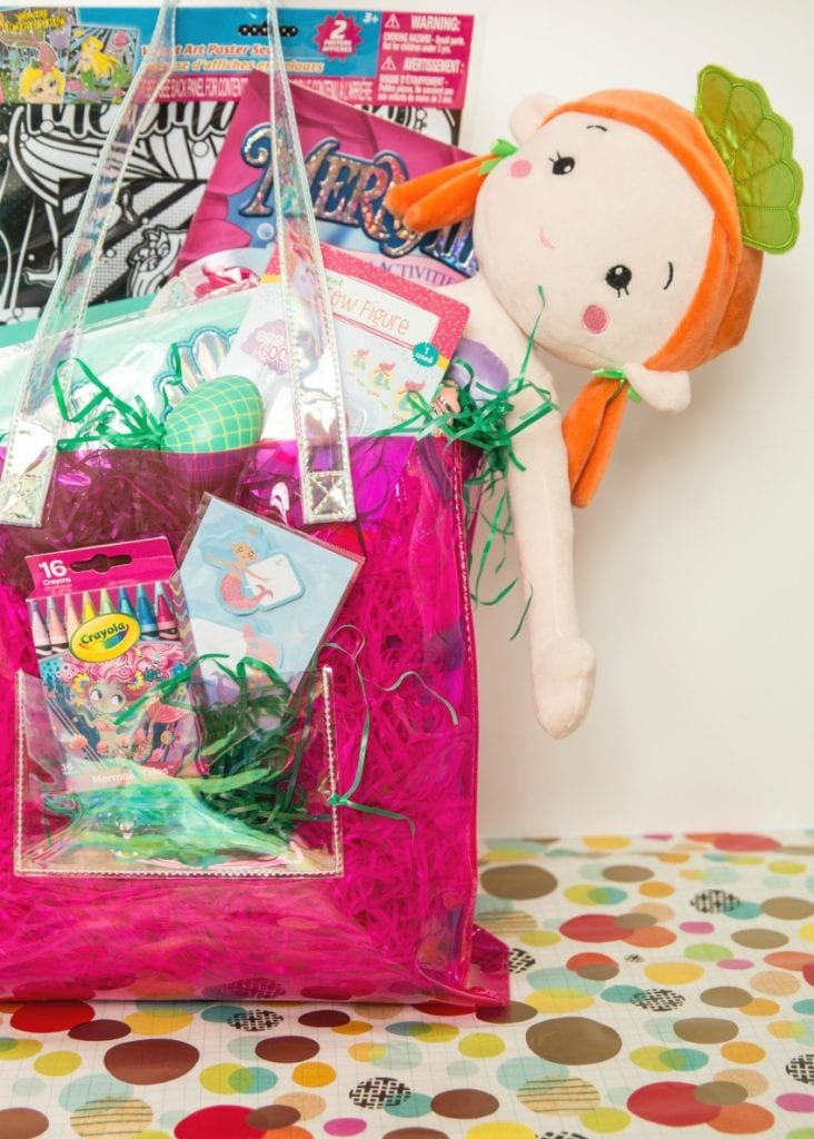 What to put inside a mermaid themed Easter basket or gift bag for kids by Jennifer Perkins