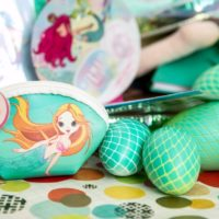Plastic Easter eggs crafted to look like mermaid tails. Jennifer Perkins