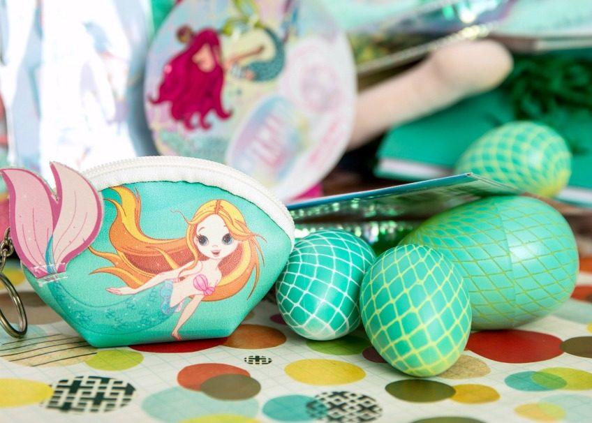 Plastic Easter eggs crafted to look like mermaid tails. Jennifer Perkins
