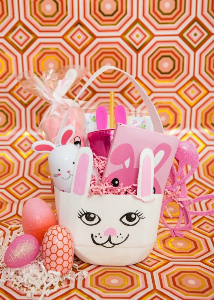 DIY recycled milk jug Easter bunny basket by Jennifer Perkins