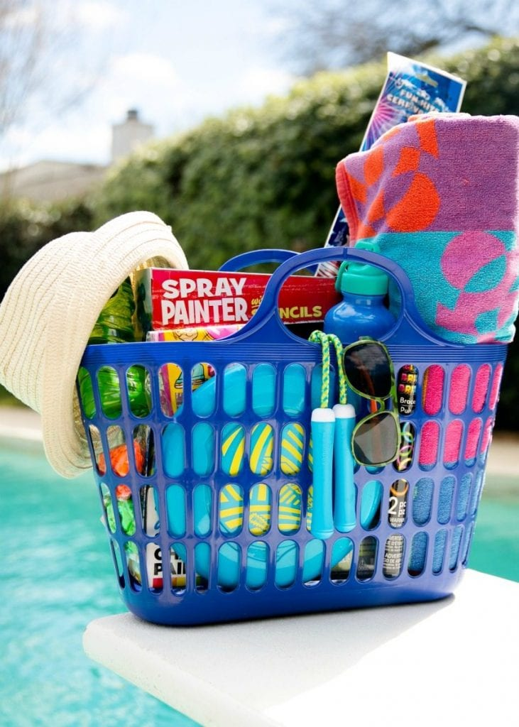 Gift basket ideas for a pool party by Jennifer Perkins