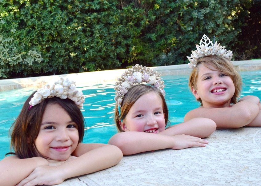 Adorable DIY shell tiaras for  your little mermaid by Jennifer Perkins