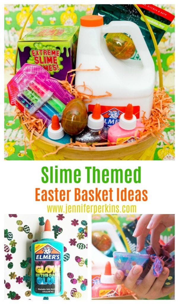 Slime themed ideas for an Easter basket by Jennifer Perkins