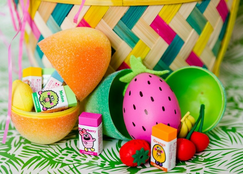 DIY strawberry Easter eggs by Jennifer Perkins