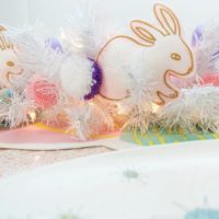 DIY no-sew stuffed felt bunnies for an Easter table runner by Jennifer Perkins