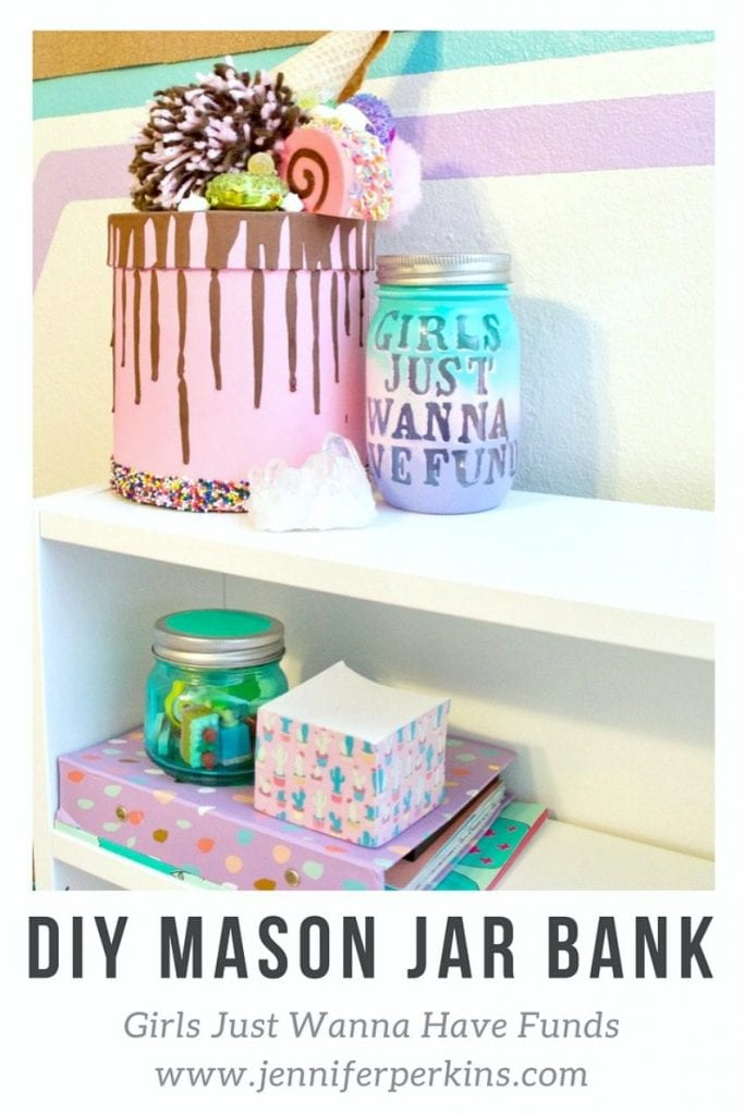 How to make a DIY mason jar piggy bank by Jennifer Perkins