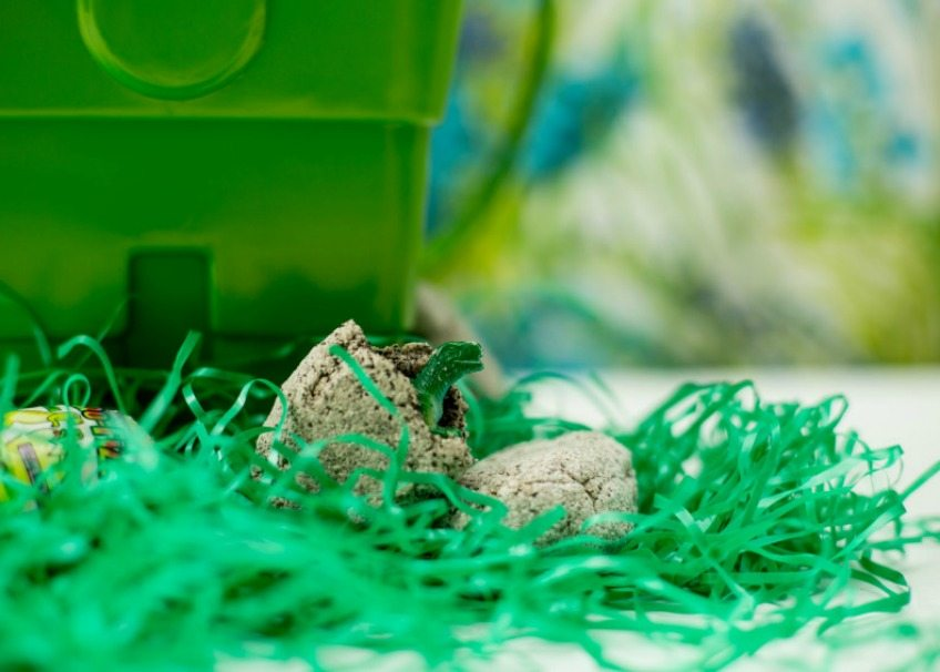 DIY dinosaur eggs that kids can crack open by Jennifer Perkins
