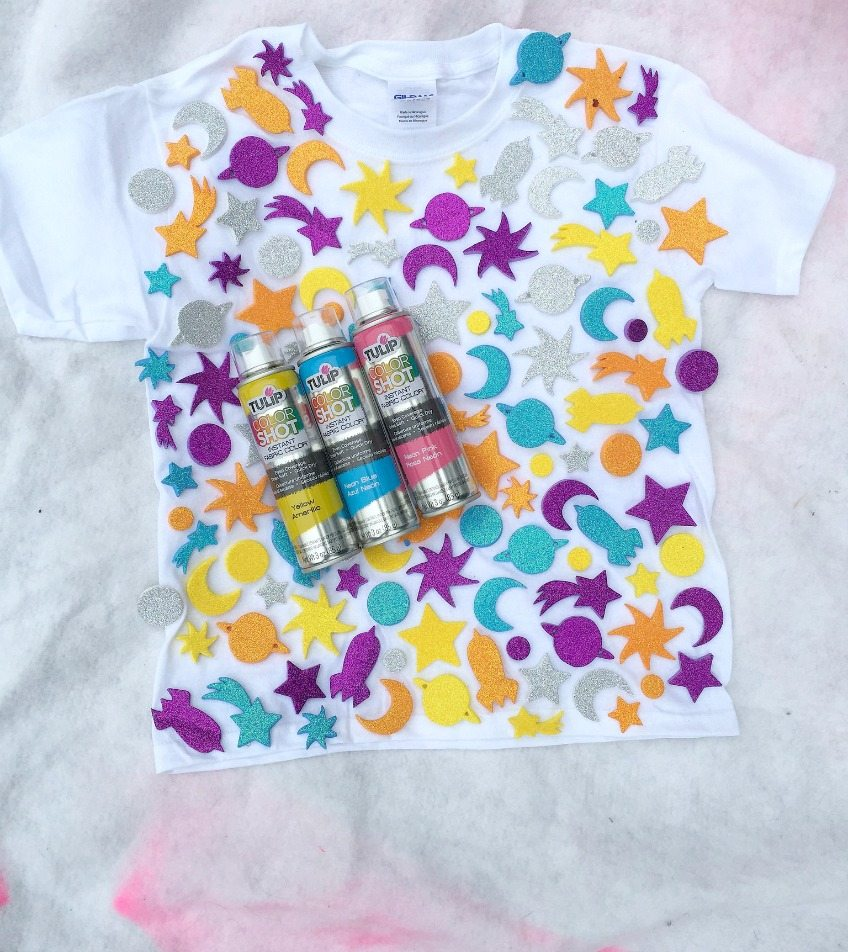Easy Sticker Resist T-Shirt DIY