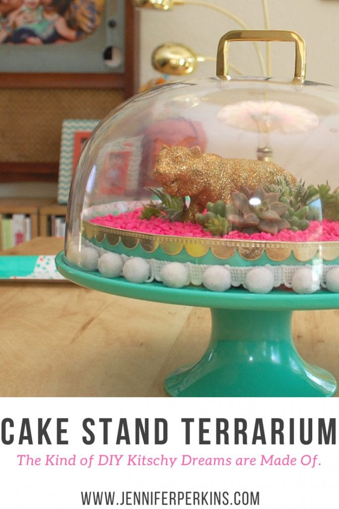 Kitsch Cake Stand Terrarium by Jennifer Perkins