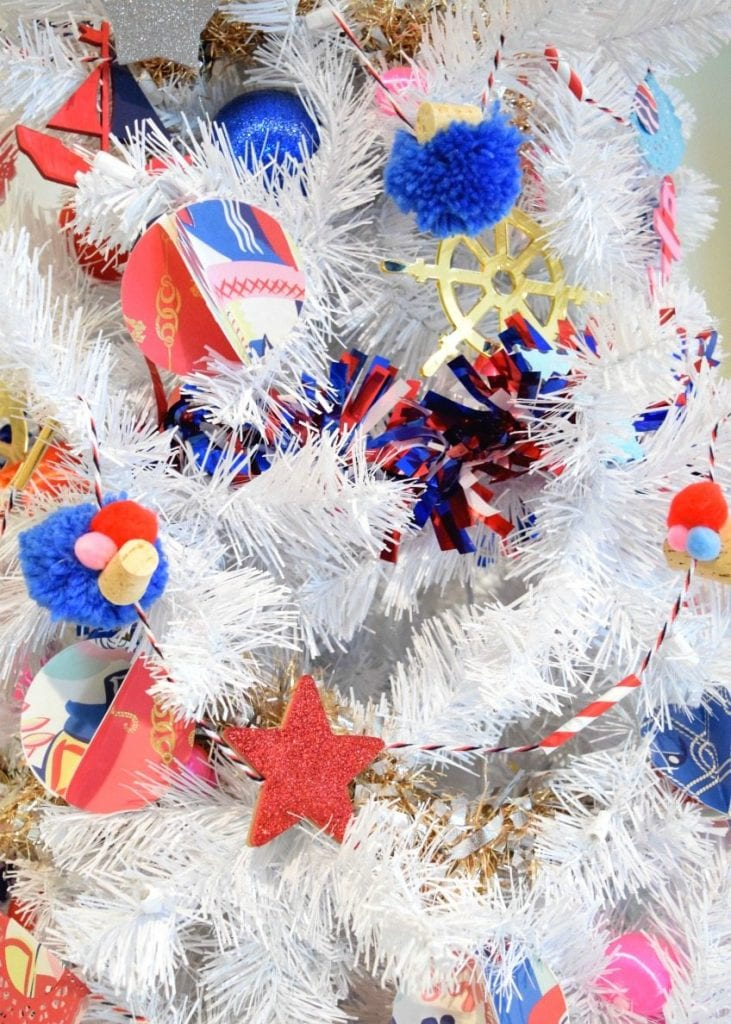 4th Of July Christmas Tree With Diy Nautical Decorations