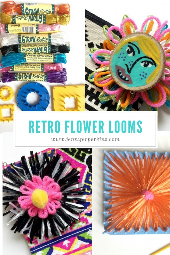 How to use retro flower looms and embellish bags with them by Jennifer Perkins