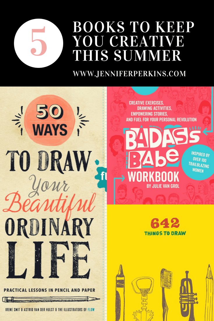 5 books to keep you creative over the summer with drawing.