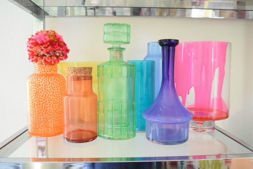 Collecting & Styling Colorful Vintage Glass PLUS a DIY To ...