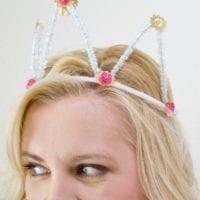 Pipe cleaner tiaras perfect for the royal wedding by Jennifer Perkins