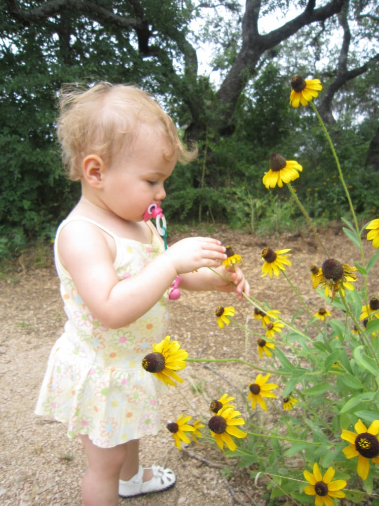 Taking children to the Ladybird Wildflower Center in Austin