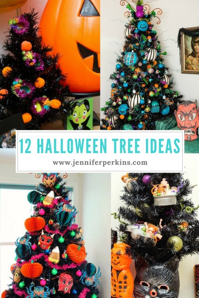 A Dozen Ideas For How To Decorate A Black Christmas Tree For Halloween