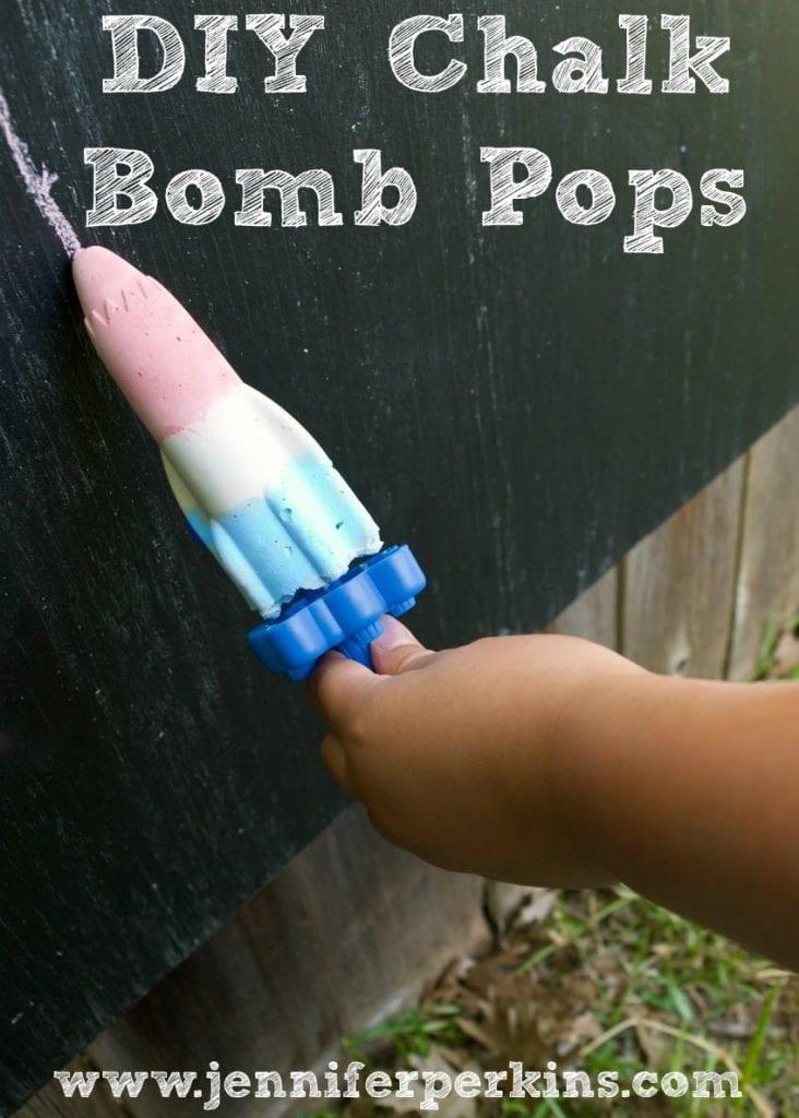 DIY bomb pop shaped chalk popsicles by Jennifer Perkins