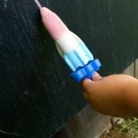 Chalk popsicles in red, white and blue for 4th of July craft.