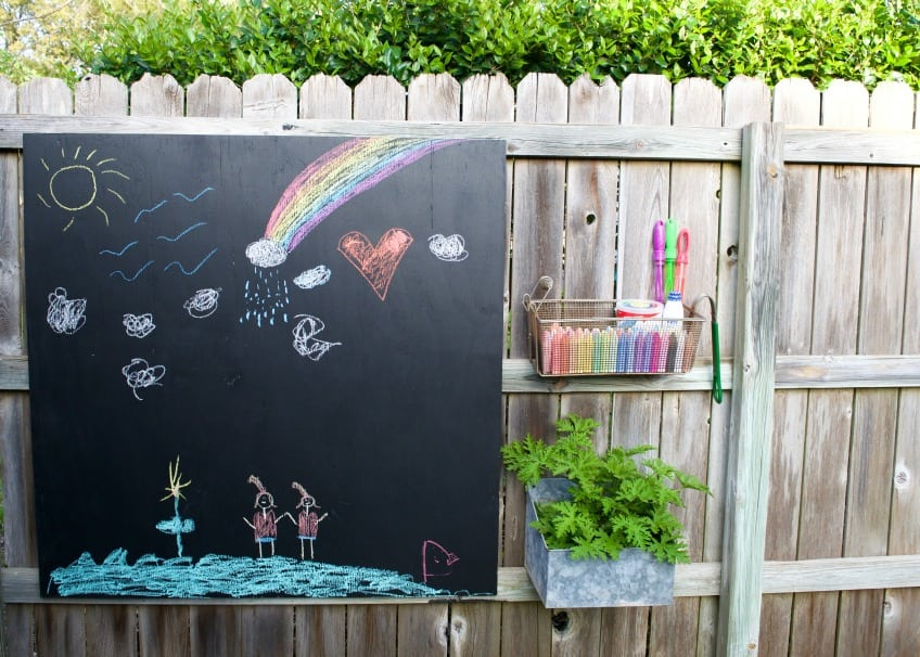 How to build and outdoor chalk board activity center by Jennifer Perkins
