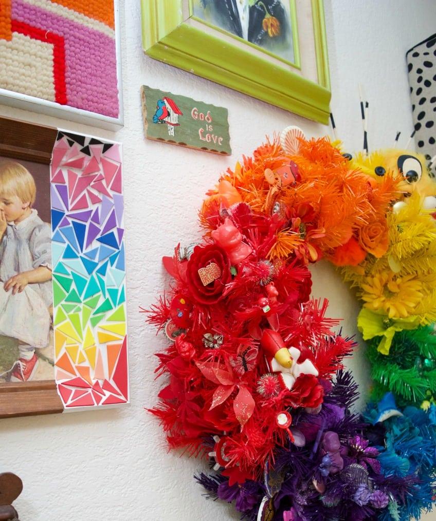 LGBTQ pride month rainbow wreath