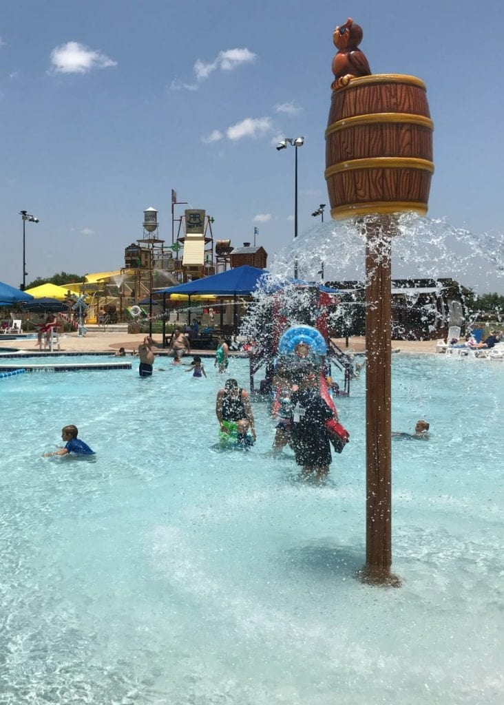 Splash pad, pool and water slides for kids in Round Rock.