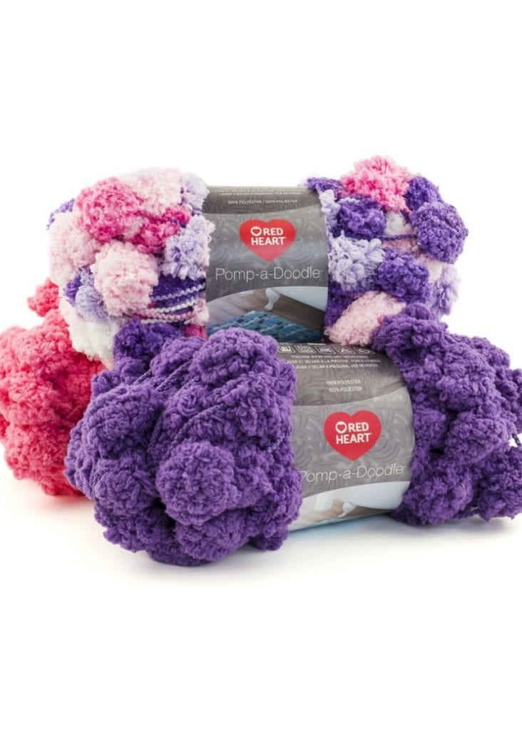 Pompadoodle yarn from Red Heart
