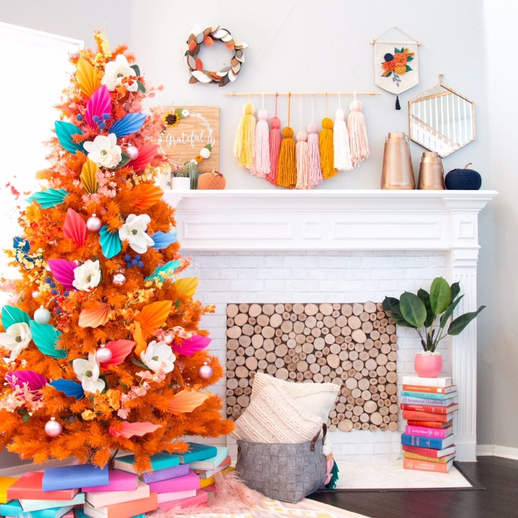 Colorful Fall Christmas Tree Ideas Jennifer Perkins