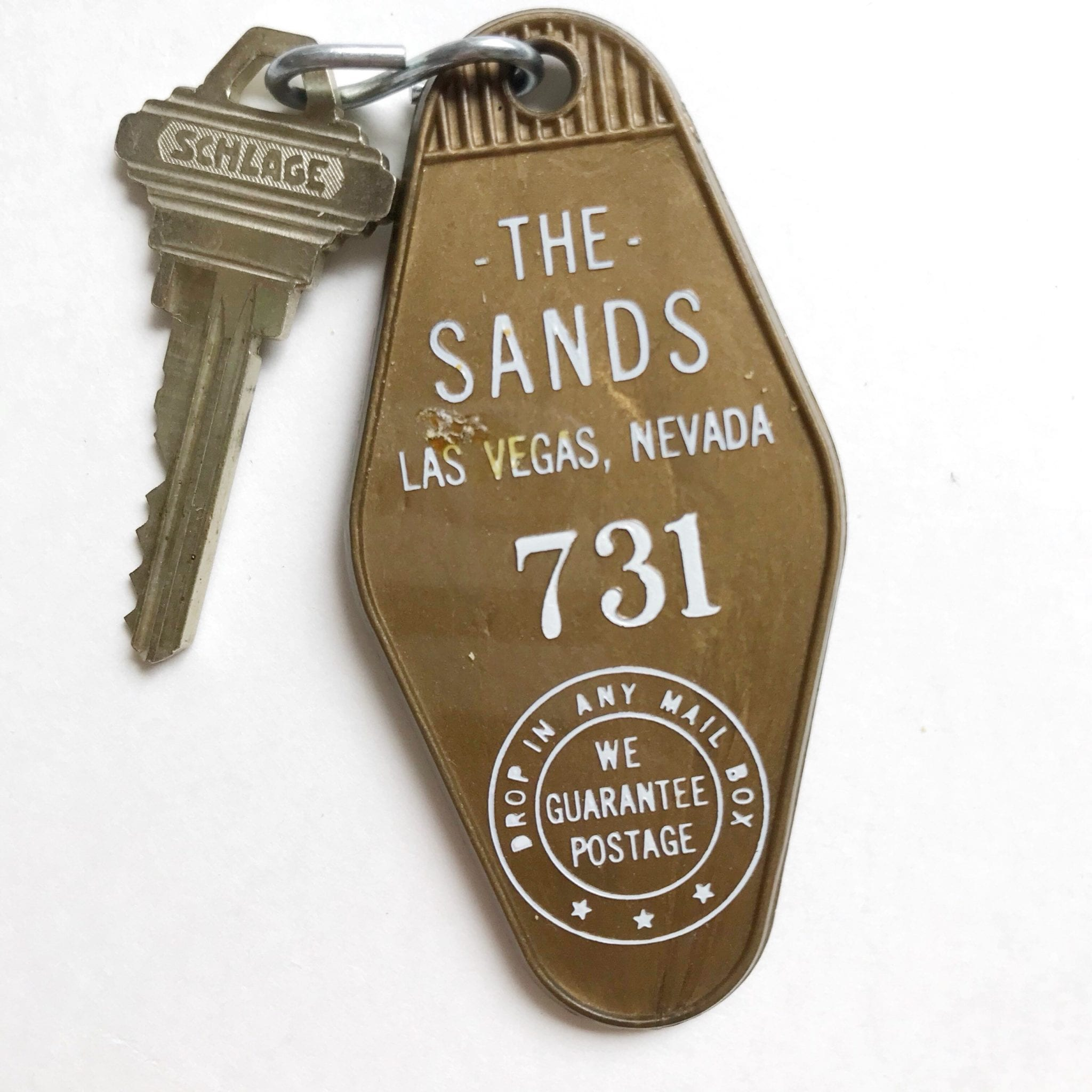 The Sands Hotel Las Vegas Gold Key Chain