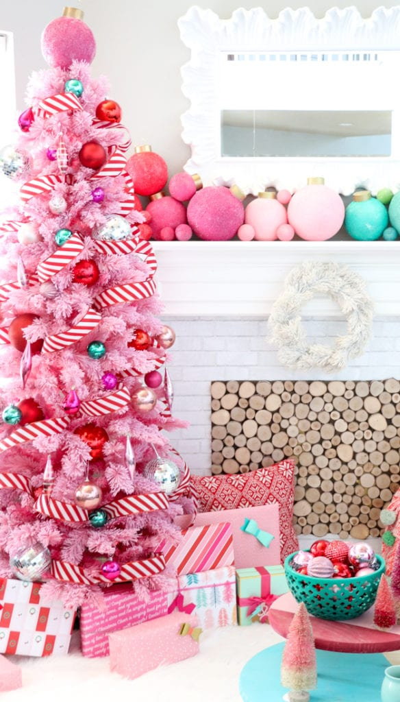 Pink Christmas.Move Over Green Pink Chrismtas Trees Are Here And Fabulous