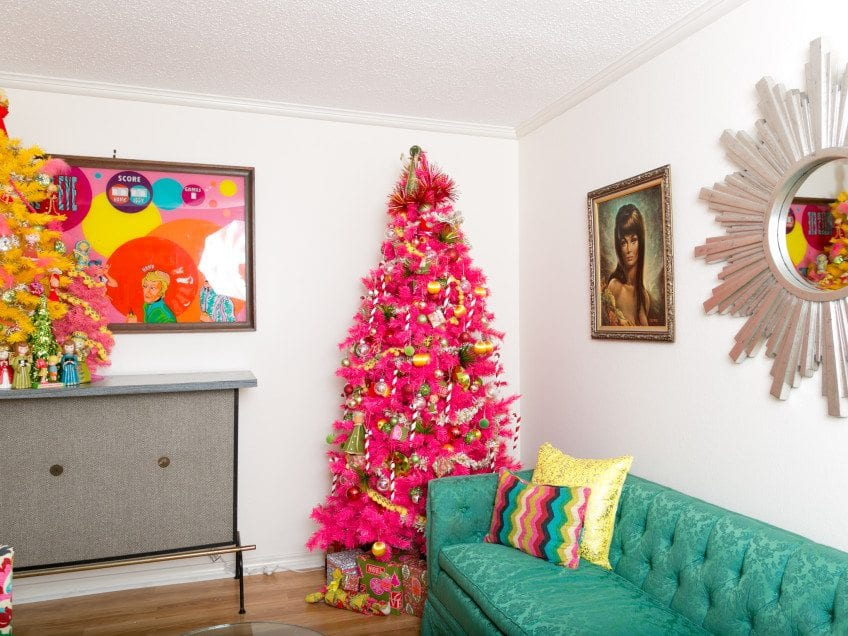 Hot Pink Christmas Tree by Jennifer Perkins