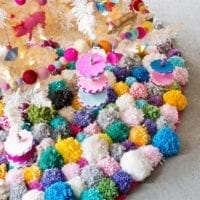 Close Up Of Pom Pom Tree Skirt
