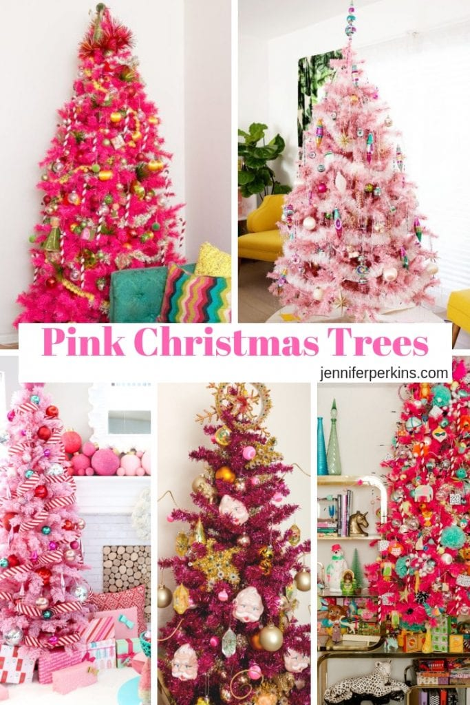 Pink Christmas Trees.Move Over Green Pink Chrismtas Trees Are Here And Fabulous